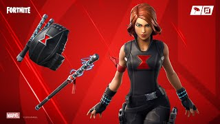 "NEW SKIN AVENGERS FORTNITE ""BLACK WIDOW"". SKIN MARVEL FORTNITE 