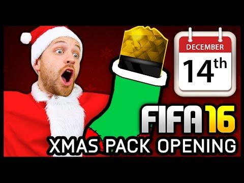 XMAS ADVENT CALENDAR PACK OPENING #14 - FIFA 16 ULTIMATE TEAM