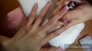 Коррекция ногтей.аппаратный маникюр.Сердечки на ногтях