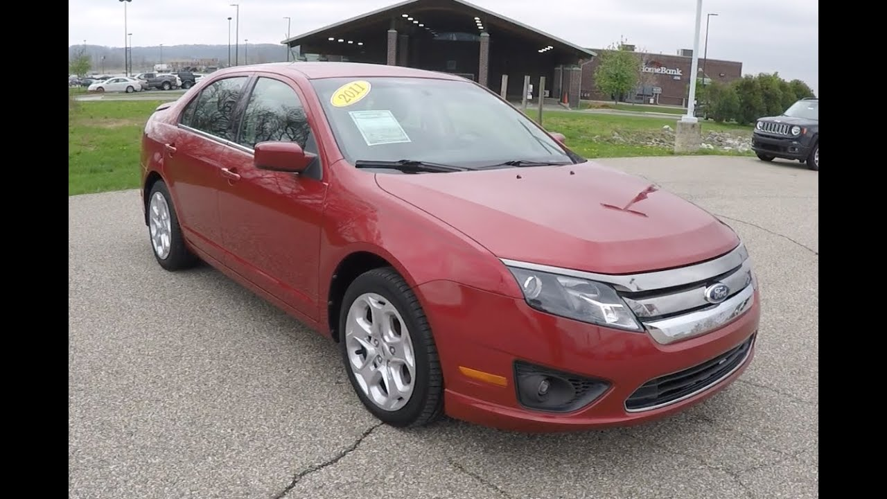 Used 2017 Ford Fusion Se Red Great Gas Mileage Martinsville In P10237a