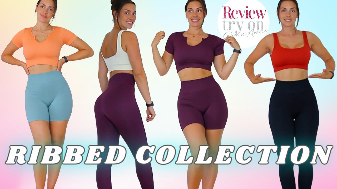 Aliexpress new RIBBED SEAMLESS collection - Leggings | Shorts | Cropped top | Bra