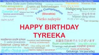 Tyreeka   Languages Idiomas - Happy Birthday