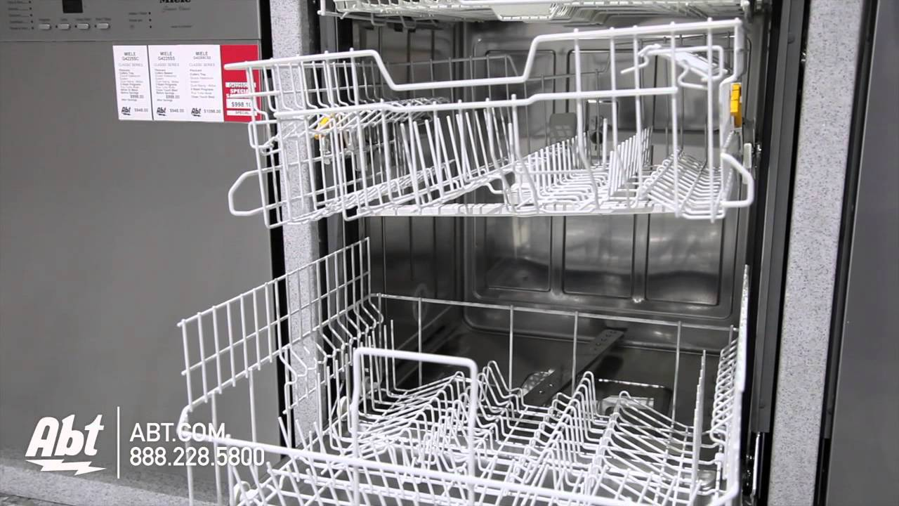Miele Stainless Dishwasher GSCSF Overview YouTube - Abt dishwasher