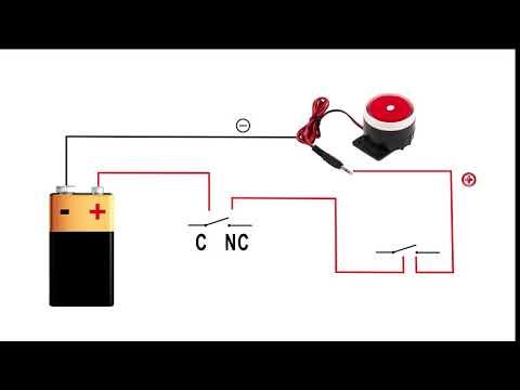 [ZHKZ_3066]  Simple Alarm System Wiring with KeySwitch Micro Switch and Sounder - YouTube | Car Alarm Siren Wiring Diagram |  | YouTube