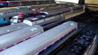 New Jersey Transit Train Arriving in Penn Station NYC