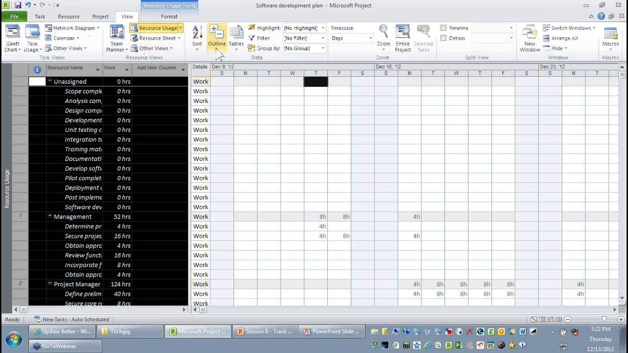 Track project actual against project baseline information youtube nvjuhfo Image collections