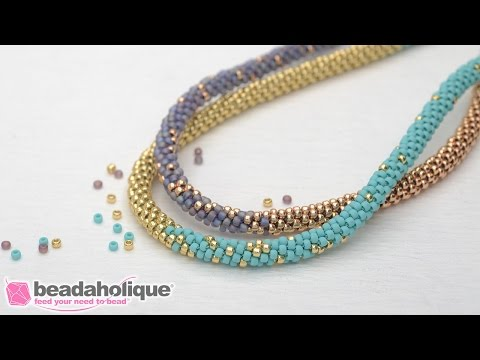 How to Make the Long Beaded Kumihimo Necklace Kit (Abridged Version)