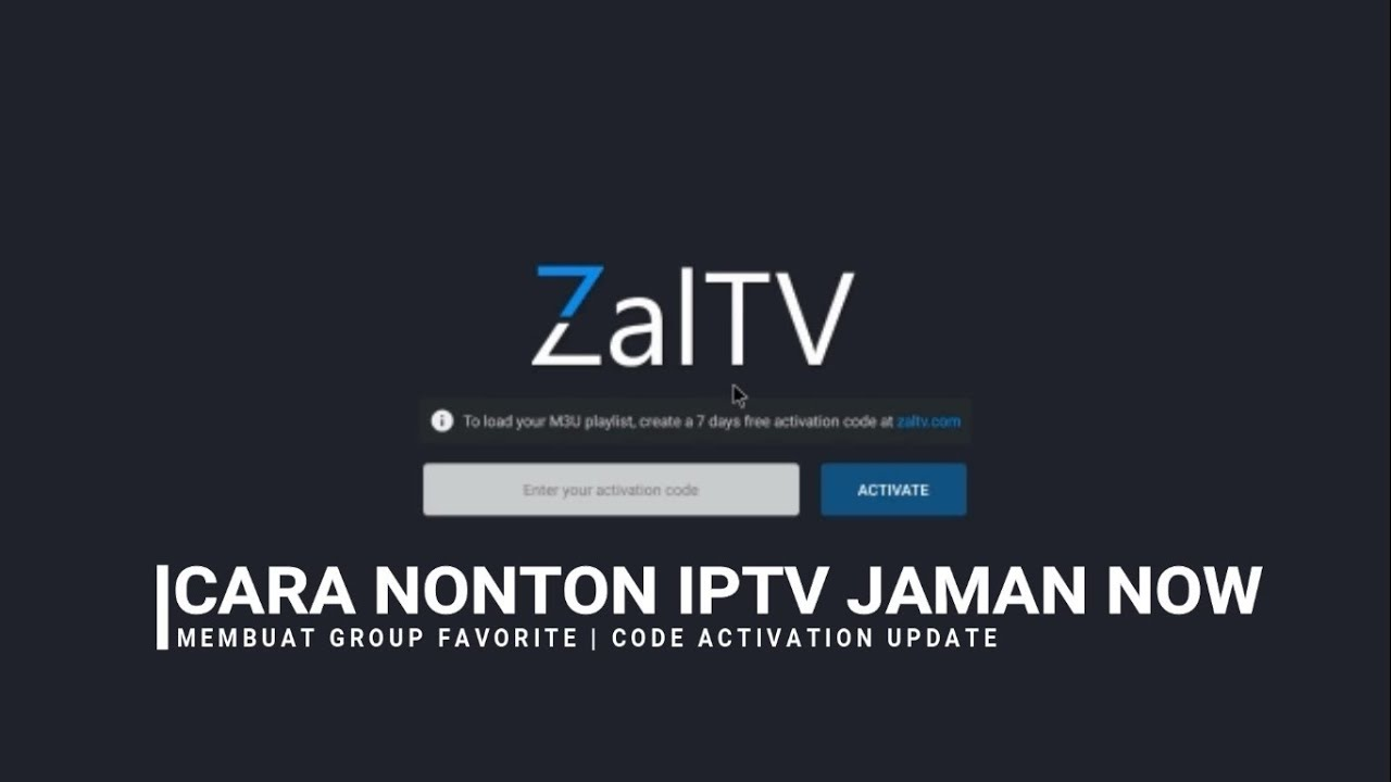 ZALTV IPTV ACTIVATION CODE UPDATE | MEMBUAT GROUP & SEARCH