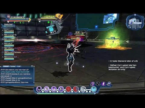 dc universe online blackest night all boss fights sorcery healer dps