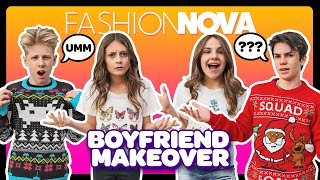 My Crush REACTS to the Extreme FASHION NOVA MAKEOVER Challenge **HE GOT MAD**  | Sophie Fergi