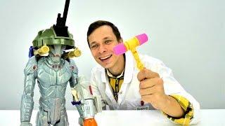Видео с игрушками. Альтрон и Доктор Ой. Игры для мальчиков.