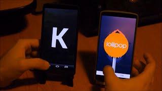 LG G3 Lollipop vs Kitkat