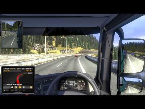 Euro Truck Simulator 2 Milano to Zurich Engine Malfunction 70%+ damage