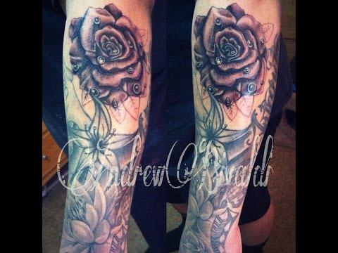 Rose tattoo sleeve tattoo youtube rose tattoo sleeve tattoo urmus Gallery