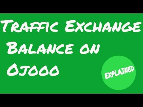 Traffic Exchange Balance on Ojooo || Explained