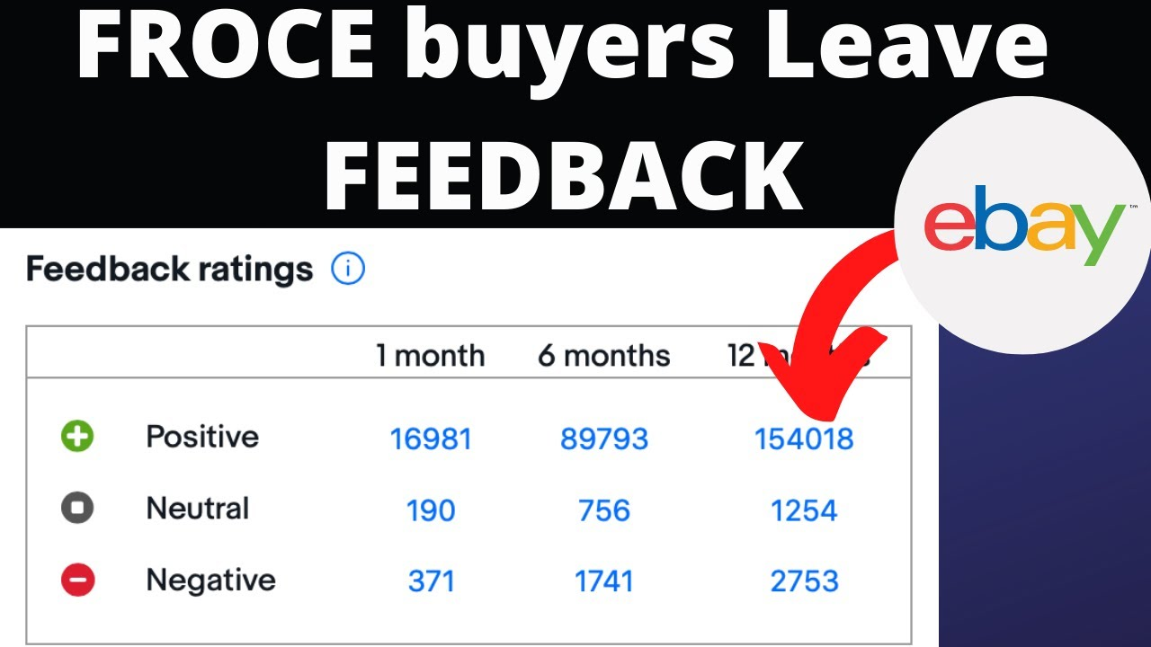 Change Ebay Feedback Velocity Help For New Sellers How To Make Buyers Leave You Feedback Youtube