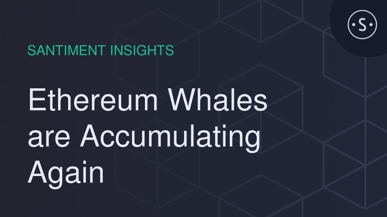 Ethereum Whales are Accumulating Again 1