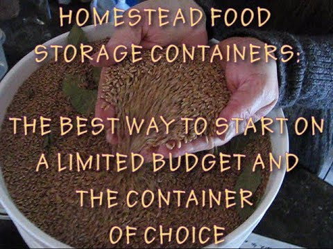 HOMESTEAD FOOD STORAGE CONTAINERS AND PROTECTING YOUR PANTRY