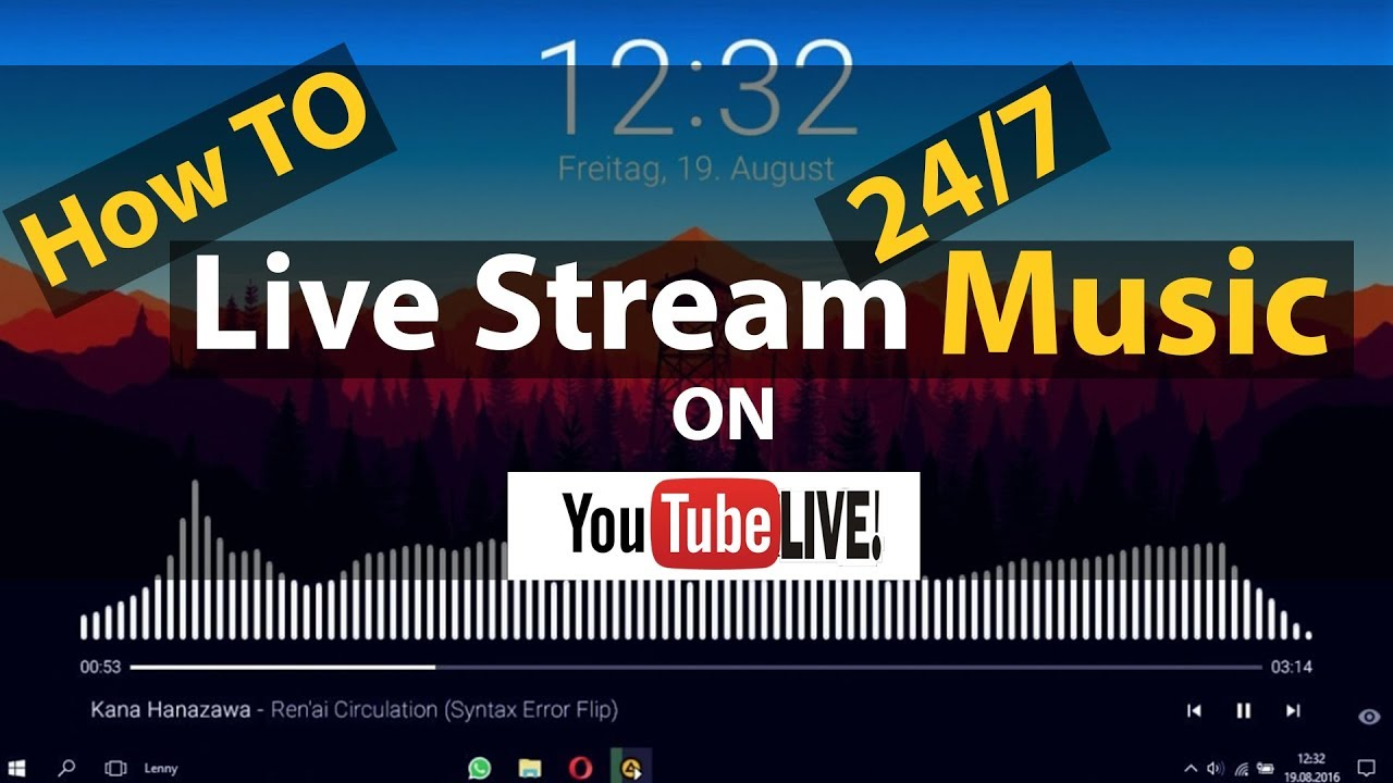 How To Streaming 24/7 Music On YouTube Live With OBS Studio Full Tutorial