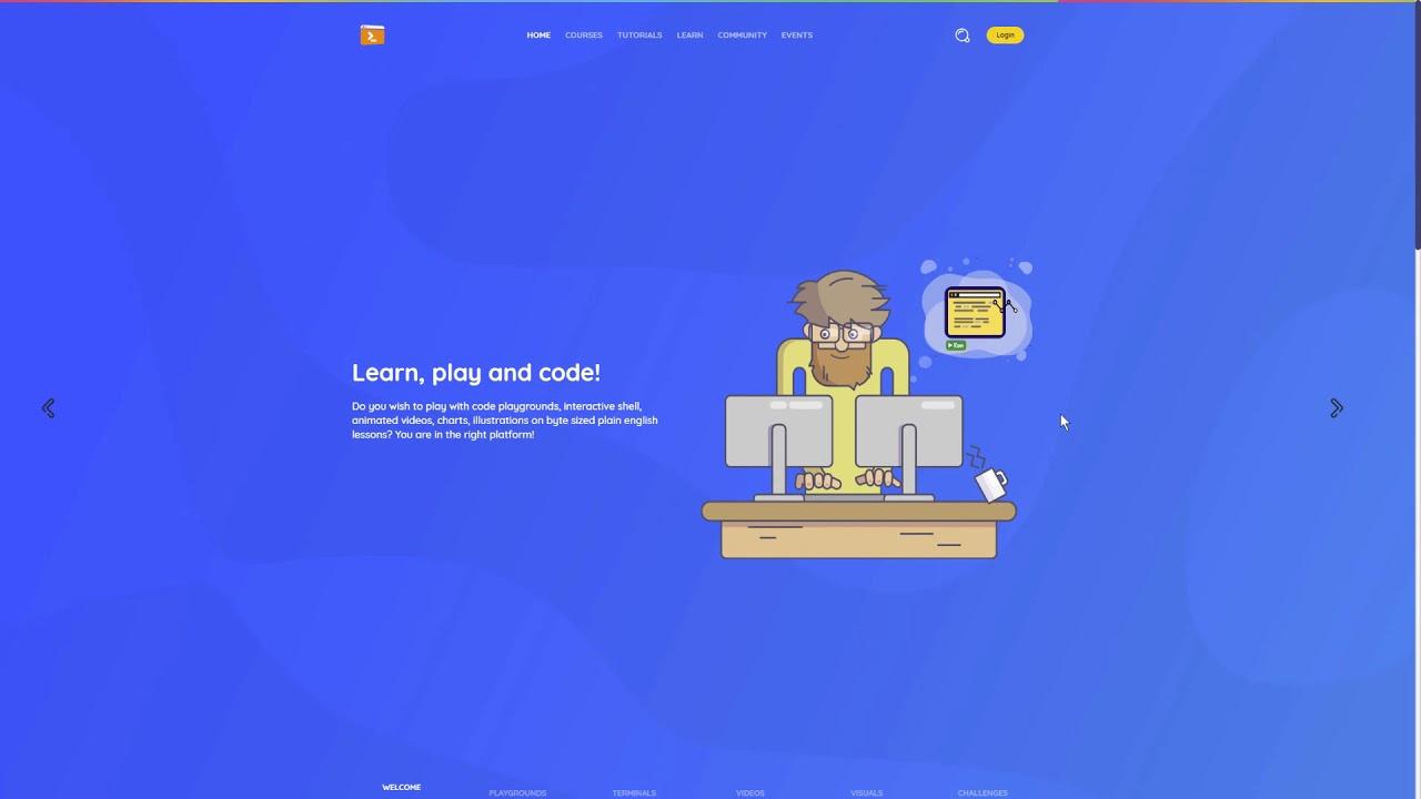 Scientific Programming School - An Advanced Learning Platform