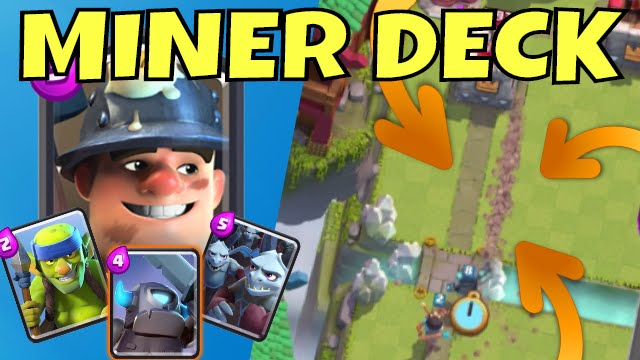 Best Miner Deck Strategy Focus Clash Royale Miner