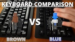 Cherry MX Blue vs Brown - What are The Best Keyboard Switches?