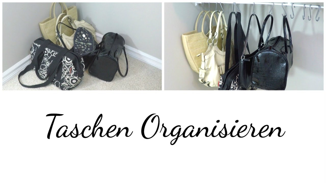 kleiderschrank organisieren mit s haken taschen organisieren youtube. Black Bedroom Furniture Sets. Home Design Ideas