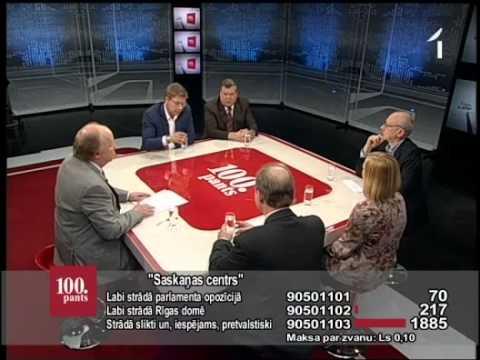 """LTV1: """"100.panta Preses klubs"""": """"Sakaņas centrs"""" (18.05.12.,1.daļa)"""