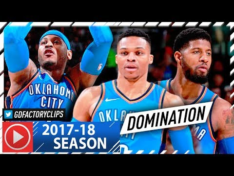 Russell Westbrook, Paul George & Carmelo Anthony BIG 3 Highlights vs Cavaliers (2018.01.20) - EPIC!