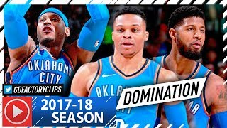 Russell Westbrook, Paul George & Carmelo Anthony Big 3 Highlights Vs Cavaliers (2018.01.20)   Epic!