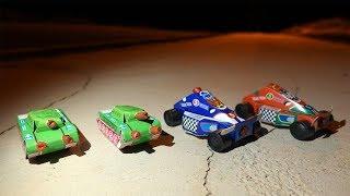 Spanische Panzer und Silvester Rennwagen im Feuerwerk Battle Rennen!