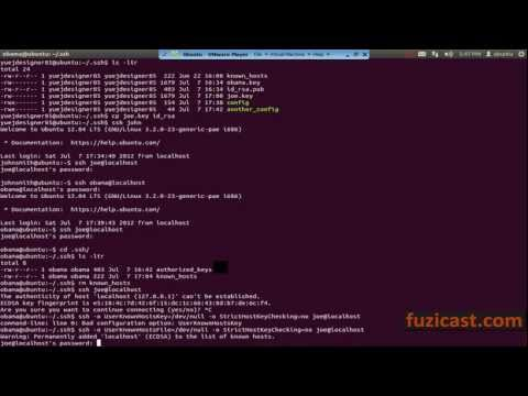UNIX-1.12 SSH Command (Video Tutorial)