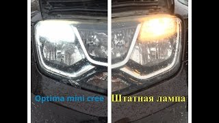 Светодиодная лампа Optima Premium OP-7443 MINI CREE XB-D в Renault Duster 2