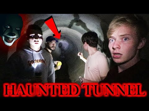 EXPLORING HAUNTED FAZE RUG TUNNEL | (heard voices)