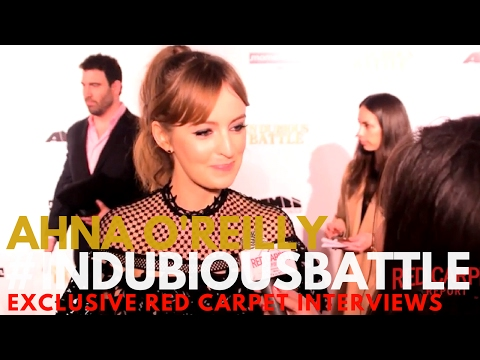 Ahna OReilly interviewed at the LA Premiere of In Dubious Battle #InDubiousBattle