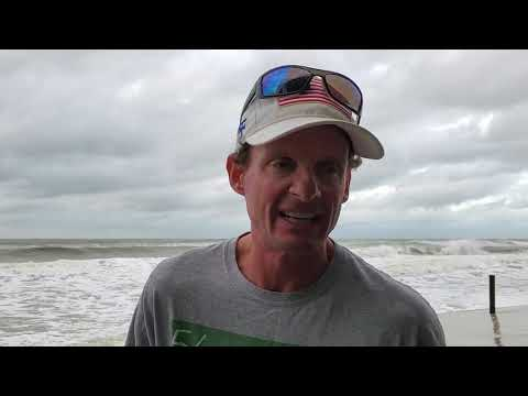 Hurricane / Tropical Storm Sally Continues To Move Our Way. On The Beach Dauphin Island Alabama