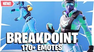 Fortnite BREAKPOINT Peau avec plus de 170 EMOTES DANCES SHOWCASE