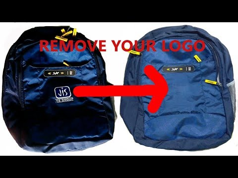 remove printed logo from bag