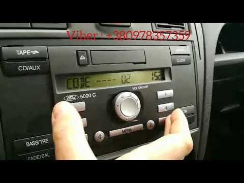 Ford Radio Code 5000C. Разблокировка автомагнитолы Форд. Ввод кода клиентом