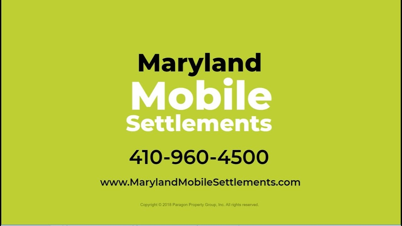 Maryland Mobile Settlements - Licensed Notary Signing Agents