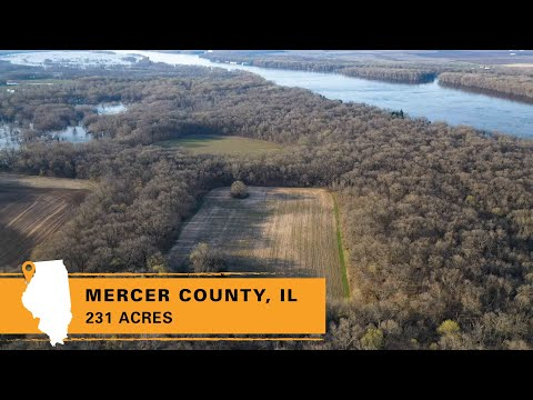 Trophy Whitetail And Duck Hunting Farm For Sale In Mercer County, IL (231 Acres)