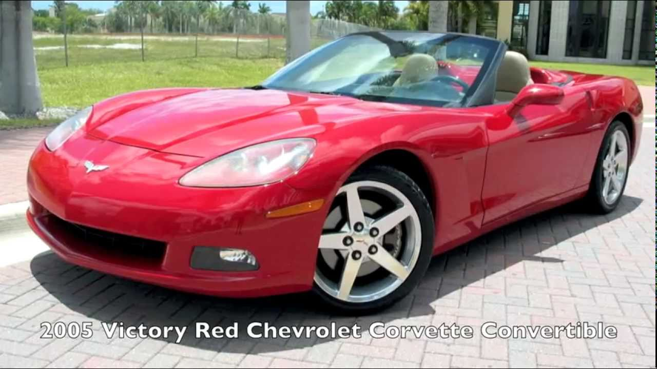 2005 Chevrolet Corvette Convertible Victory Red A2684