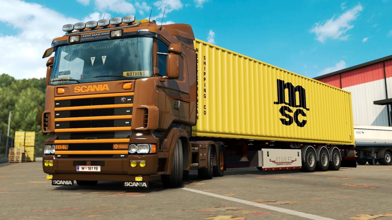 ETS 2 1 26 ProMods 2 15 Scania 164L Nice - Parma Free Download Video