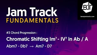 Chromatic Shifting Im7 - IV7 Jam Track in Ab / A - BJTF #3-9
