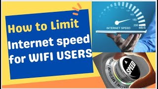 JioFiber - Limit Internet Speed for your WiFi User in JioRouter