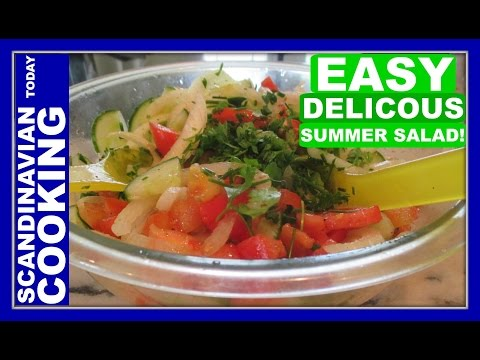 Tomato, Cucumber, and Onion Salad Recipe - A Delicious Summer Salad! ☀️