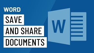 Word 2016 Saving and Sharing Documents