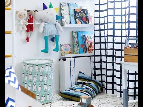 Детская комната 12 метров для двух мальчиков в маленькой квартире.