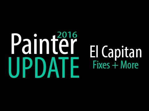 Painter 2016 Update 1 - Fixes El Capitan Mac OS Problems!