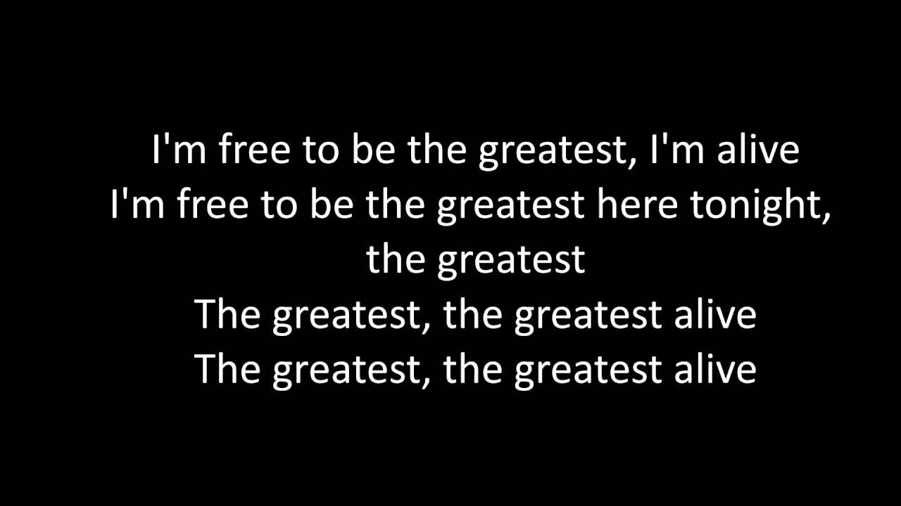 Sia The Greatest Lyrics Youtube